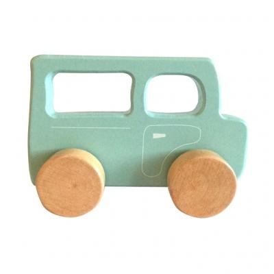 Drewniany Samochodzik dla Najmłodszych Niebieski