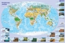 Mapa - krajobrazy świata. Podkładka na biurko opracowanie zbiorowe