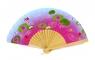Wachlarz z motywem wodnych kwiatów (DJ06581)