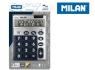 Kalkulator Milan 10 pozycyjny Silver duże klawisze, niebieski