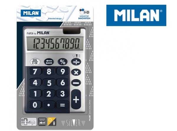 Kalkulator z dużymi klawiszami Milan Silver - Niebieski (159906SLBBL)