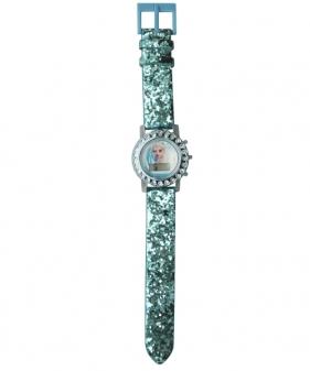 Zegarek cyfrowy z brokatowym paskiem i światełkami LED - Frozen (WD21176)