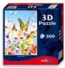 Puzzle z efektem 3D Motyle 500 elementów