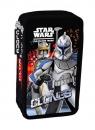 Piórnik podwójny Star Wars Clone Wars z wyposażeniem