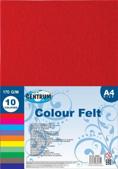 Samoprzylepna pluszowa pianka Eva A4 10 kolorów