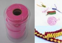 Wstążki filcowe 0,5cm. x 6m kolor różowy 13 sztuk