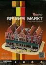 Puzzle 3D Rynek w Brugii (C182H)