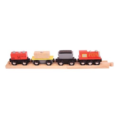 Pociąg drewniany towarowy
