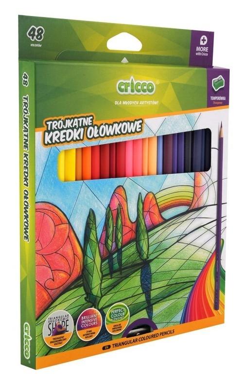 Kredki ołówkowe trójkątne 48 kolorów