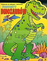 Portrety dinozaurów. Książeczka do naklejania i kolorowania Magdalena Gołdanowska (red.)