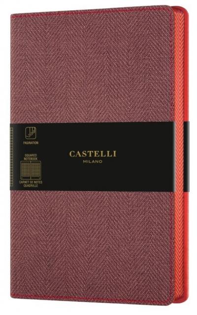 Notatnik 13x21cm kratka Castelli Harris Red