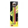 Ołówek z gumką Fluo 4 sztuki