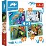 Trefl, Puzzle 4w1: Tajemniczy świat zwierząt (34382)
