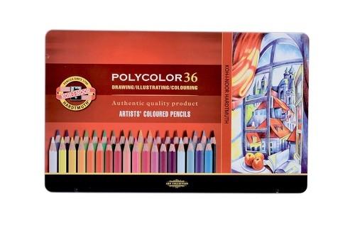 Kredki Polycolor 36 kolorów oprawa metalowa