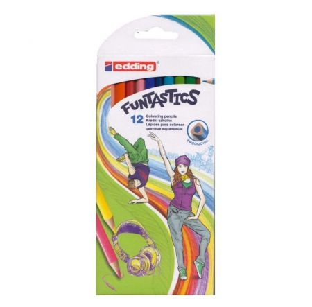 Kredki Funtastics Dance, 12 kolorów (5/12/D AX)