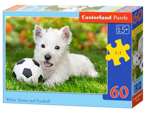 Puzzle White Terrier and Football 60 elementów (06823)