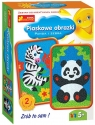 Piaskowe obrazki Panda i zebra