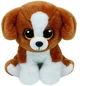 Maskotka Beanie Babies Snicky - brązowo-biały pies 15cm (42182)