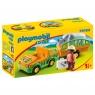 Playmobil 1.2.3: Pojazd do transportu nosorożca (70182) Wiek: 18m+