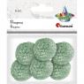 Pompony włóczkowe, 6 szt. 3cm - zielony jasny (412943)