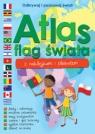 Atlas flag świata z naklejkami i plakatem Praca zbiorowa
