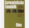 Germanistische Linguistik 175 - 176 2004 D Stellmacher