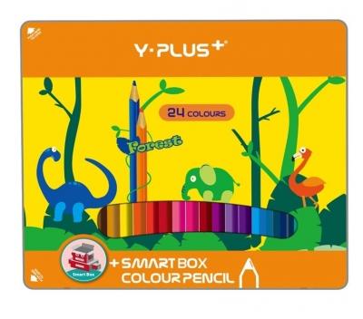Kredki ołówkowe Forest pudełko metalowe 24 kolorów