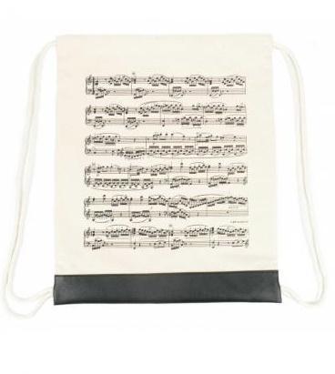 Plecak (worek) kremowy z motywem nut