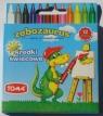 Kredki świecowe Zębozaurus 12 kolorów TO-558