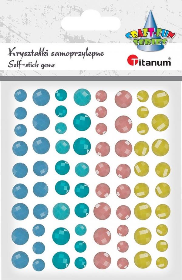 Kryształki Titanum Craft-fun mix 72 szt.