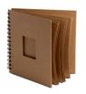 Album na spirali z okienkiem, 30 arkuszy 20x20cm - brązowe Eco (445154)
