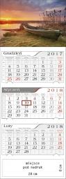 Kalendarz trójdzielny Mazurski Zachód 2018