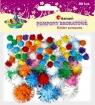 Pompony brokatowe, 80 szt. - mix kolorów (361537)