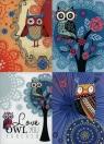 Zeszyt A5 Top-2000 w kratkę 32 kartki Owl you forever 10 sztuk mix