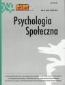 Psychologia Społeczna  8(27) 2013