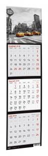 Kalendarz 2020 Trójdzielny Kwadratowy mix wzorów
