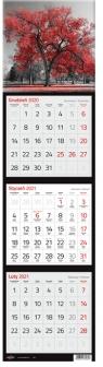 Kalendarz 2021 Trójdzielny Kwadratowy
