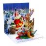 Kartki 3D - Rooftop Santa (1018)