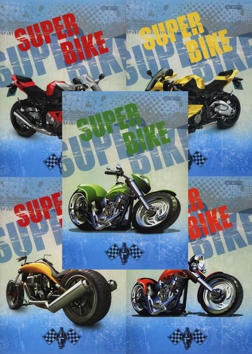 Zeszyt A5 Top-2000 w kratkę 16 kartek Super bike 20 sztuk mix