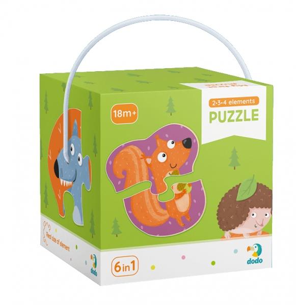 Puzzle 2-3-4: Zwierzęta leśne (DOP300195)