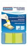 Zakładki indeksujące Donau samoprzylepne z dyspenserem 50 sztuk żółte
