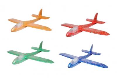 Samolot styropianowy ze światłem