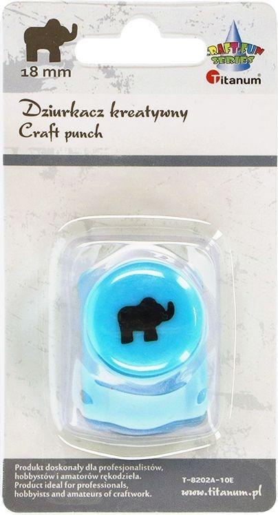 Dziurkacz Titanum Craft-fun kreatywny 18mm słoń turkusowy