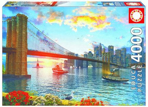 Puzzle Most Brookliński Nowy York 4000 (16782)