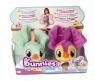 Bunnies Friends: Pluszowy ptaszek z magnesem 2-Pak - zielony i fioletowy (BUN 097223/097827)