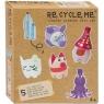 Re-Cycle-Me, Zestaw Kreatywny - Świnka - 5 zabawek