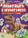 Minialbum z naklejkami. Dinozaury i prehistoria