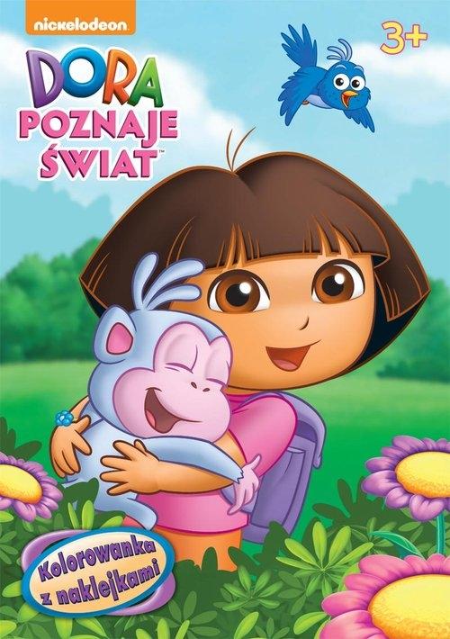 Dora poznaje świat. Kolorowanka z naklejkami
