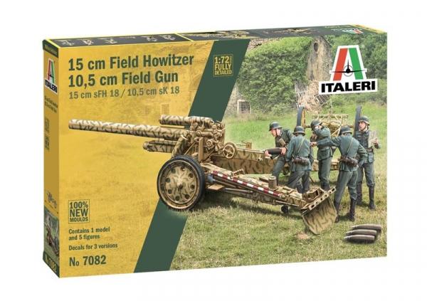 Model plastikowy 15 cm Field Howitzer 10,5 cm Field Gun (7082)