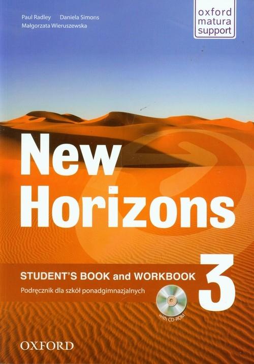 New Horizons 3 Podręcznik z CD Radley Paul, Simons Daniela, Wieruszewska Małgorzata